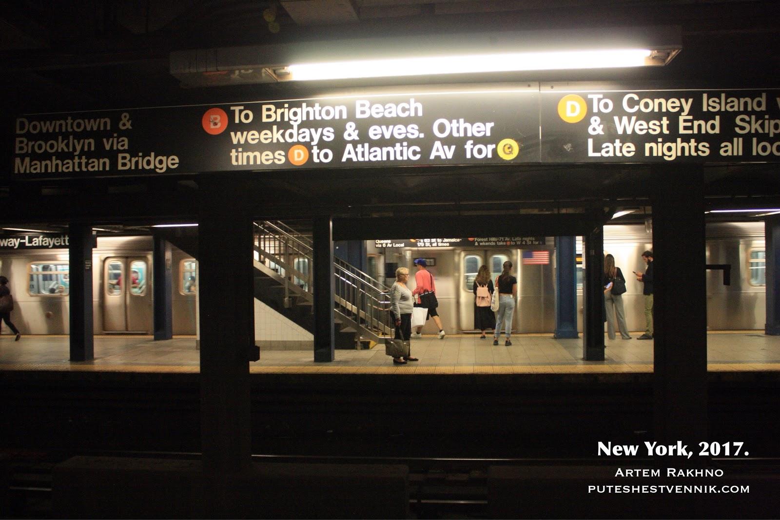 В метро по дороге на Брайтон-Бич