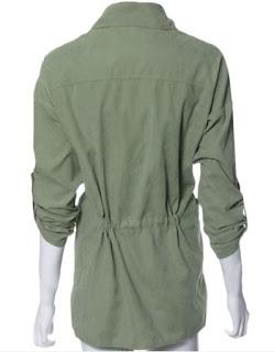 Chaqueta larga holgada con cintura elástica y mangas ajustables