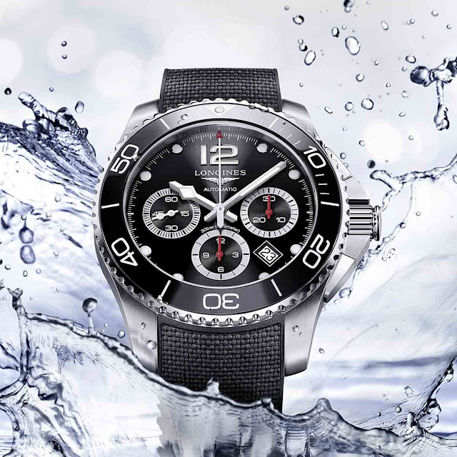 Longines HydroConquest Chronograph Ceramic black bezel