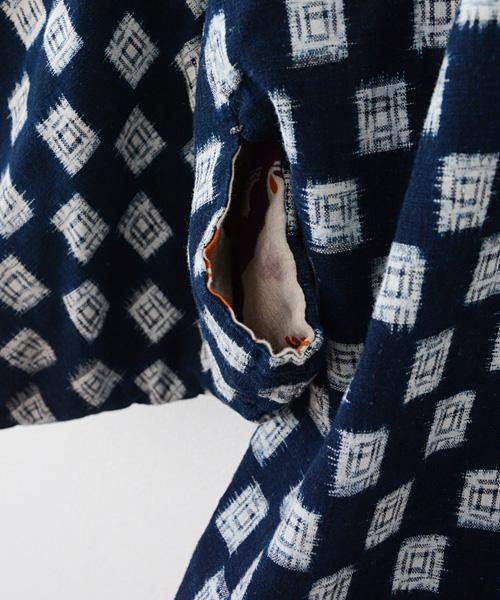 野良着 FUNS アンティーク着物 藍染 絣 鶴柄 ジャパンヴィンテージ Antique kimono Aizome Kasuri Crane Japanese Vintage 30s