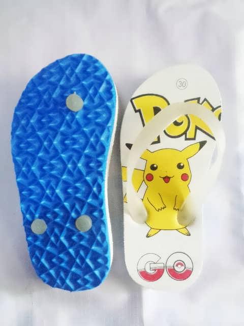 Sandal Karakter Pokemon Anak biru