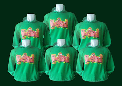 Hoodie (Sweater Kupluk) Hijau Fuji Sweater Bandung Sweater Sablon