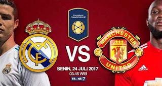 Siaran Langsung Real Madrid vs Manchester United ICC 2017 di Trans7