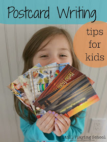 Writing postcards is perfect summer literacy practice for kids!