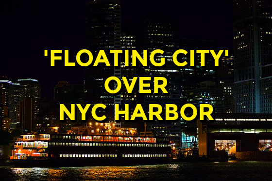'Floating City' Over NYC Harbor