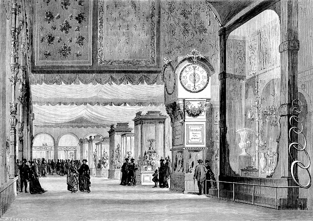 1867 Paris Exposition giant mirror, illustration