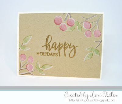 Happy Holidays card-designed by Lori Tecler/Inking Aloud-stamps from Concord & 9th