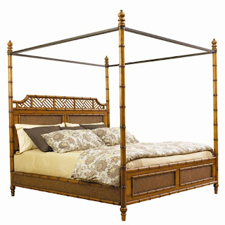 Baers Queen-Sized West Indies Canopy Bed from the Tommy Bahama Island Estate Collection