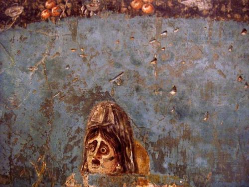 Maschera di Andromeda,  Ercolano, Casa dei CerviNapoli, Museo Archeologico Nazionale di Napoli
