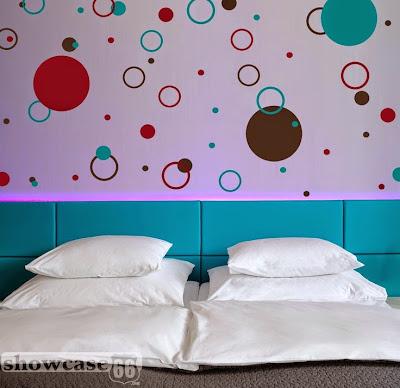 Dormitorios para Niños con Círculos en las Paredes
