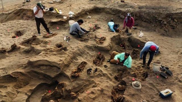 Descubren restos de 132 niños sacrificados por los Chimús en Perú