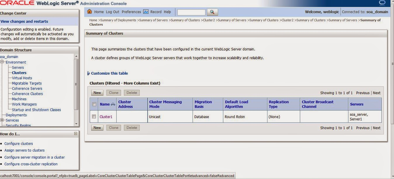 Gowtham's SOA Blog: Create and Configure Clusters on WebLogic