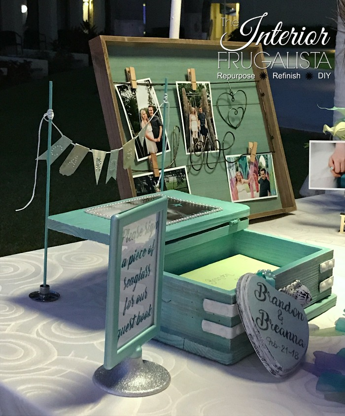 Wedding Card Box At Beach Destination Reception