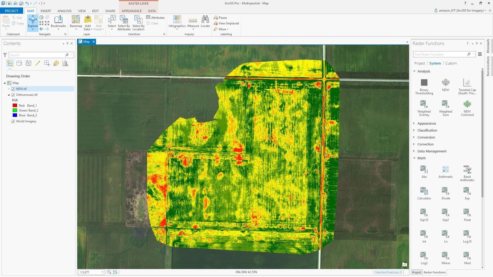 Drone2map para arcgis ponga su drone a trabajar mapa creado por drone2map para arcgis cultivos saludables sciox Gallery