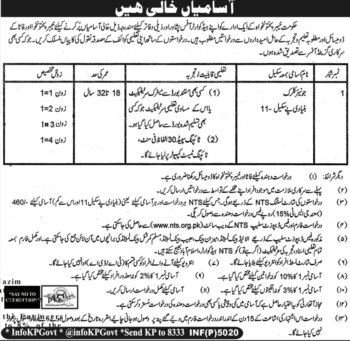 Jobs In Commissionerate Of Mines Labour Welfare Peshawar Aug 2017