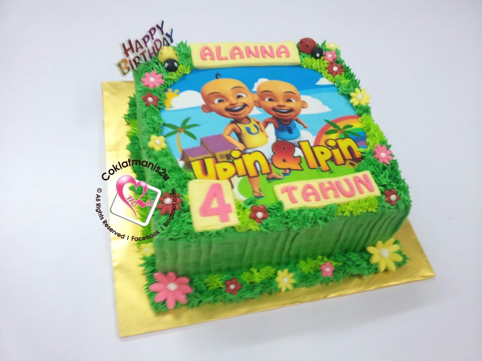 coklatmanis2u Birthday Cake Edible Image Upin Ipin