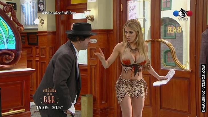 Virgina Gallardo hot body in mini skirt and busty top damageinc videos HD