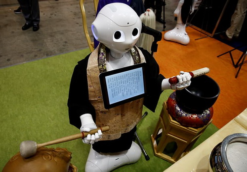 Tinuku Softbank's Monk robot launched to serve funeral