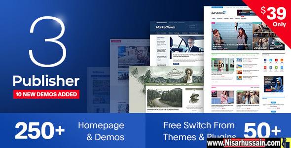 Publisher Premium Newspaper Magazine AMP Theme
