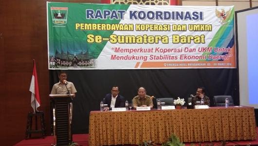 Gubernur Sumbar Tekankan Pentingnya Rakor Pemberdayaan Koperasi dan UMKM