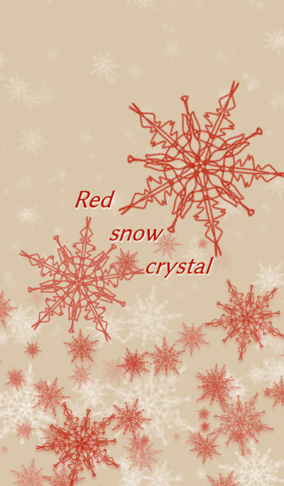 Red snow crystal.