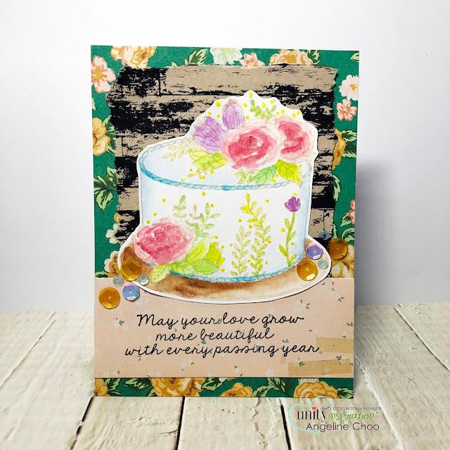 ScrappyScrappy: Brutus Monroe - Unity Stamp Blog Hop #scrappyscrappy #unitystampco #brutusmonroe #backgroundstamp #quicktipvideo #youtube #stamp #stamping #card #cardmaking #papercraft #watercolor #nolinecoloring #primamarketing #pasteldreams #birthdaycake #floralcake #weddingcake #rusticwedding #barnwall #aurorasequin