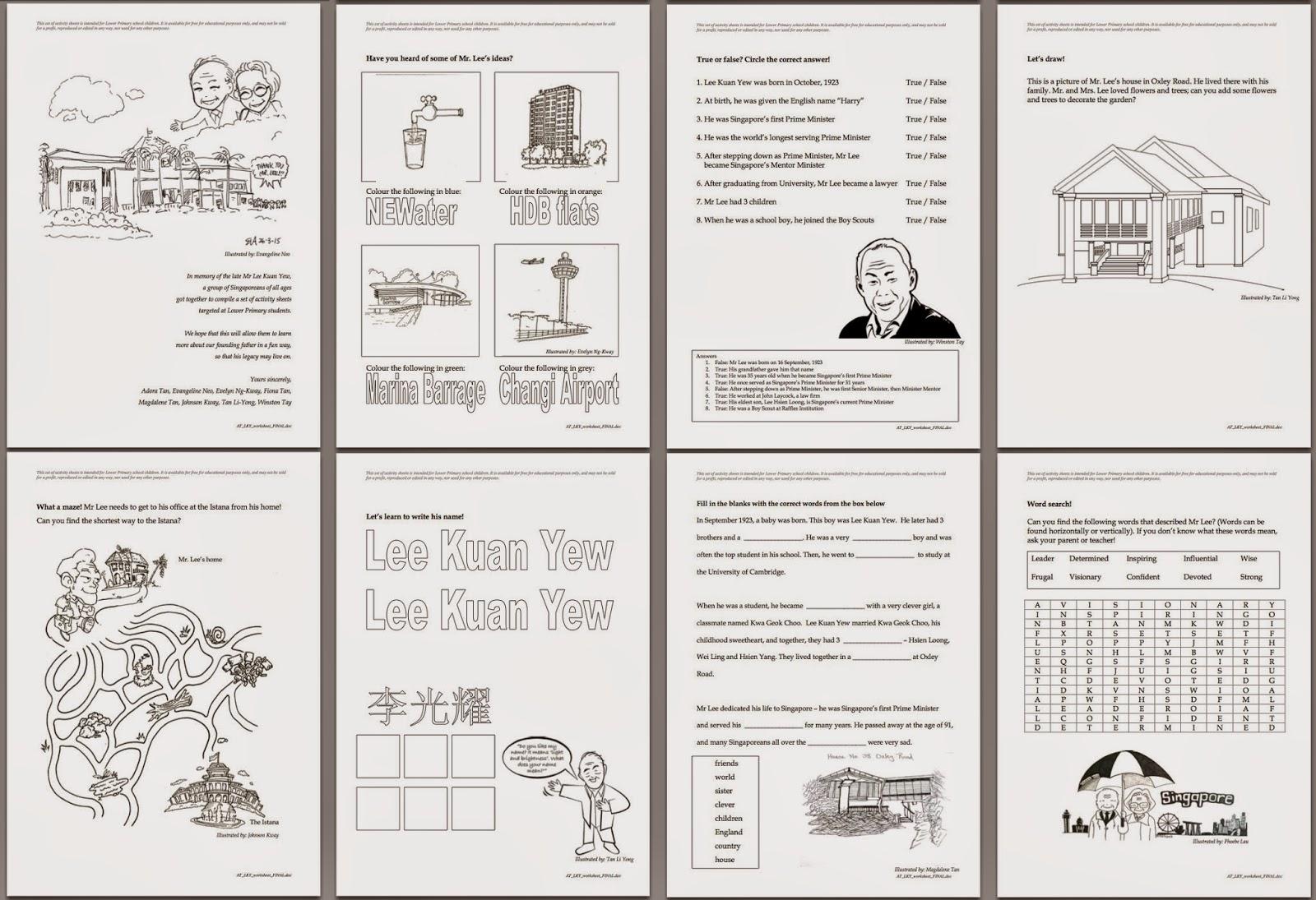 Evacomics Blog Tribute To Mr Lee Kuan Yew And His Wife
