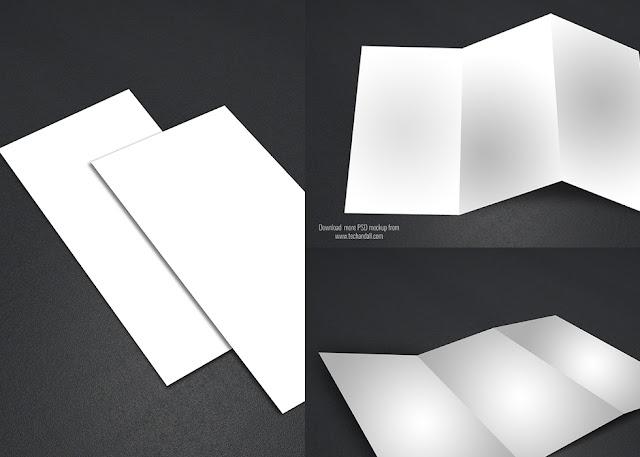 3 Tri-Fold PSD Mockup