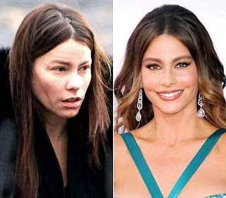 fotos de famosos antes e depois da maquiagem - sofia vergara