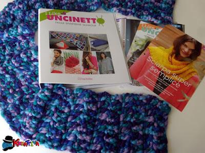 Sciarpa con lana multicolor  maglia alta facile facile