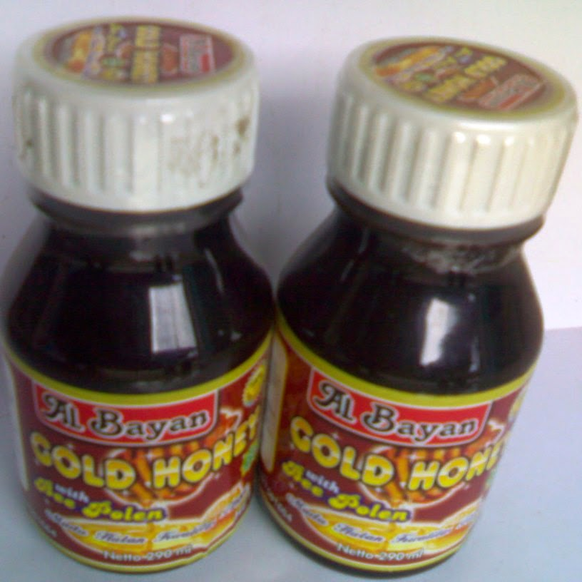Gold Honey With Bee Polen Al Bayan 290 ml Andiherbal.com