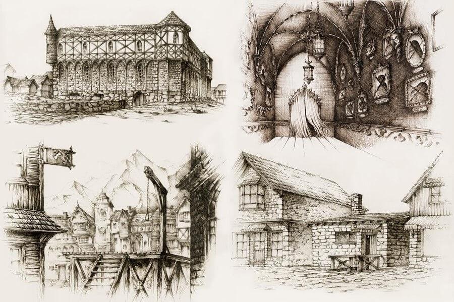 06-Medieval-Buildings-2-Elwira-Pawlikowska-www-designstack-co