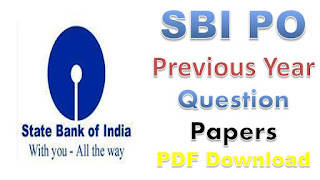 SBI PO Previous year Question papers with Answers PDF Download