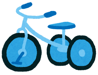 三輪車のイラスト