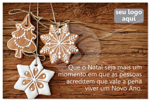 Cartão de Natal com docinhos