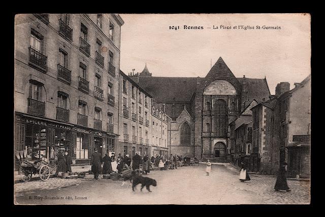 """""""1041 Rennes - La Place et l'Eglise St-Germain de Rennes"""" """"E Mary-Rousselière édit, Rennes"""""""