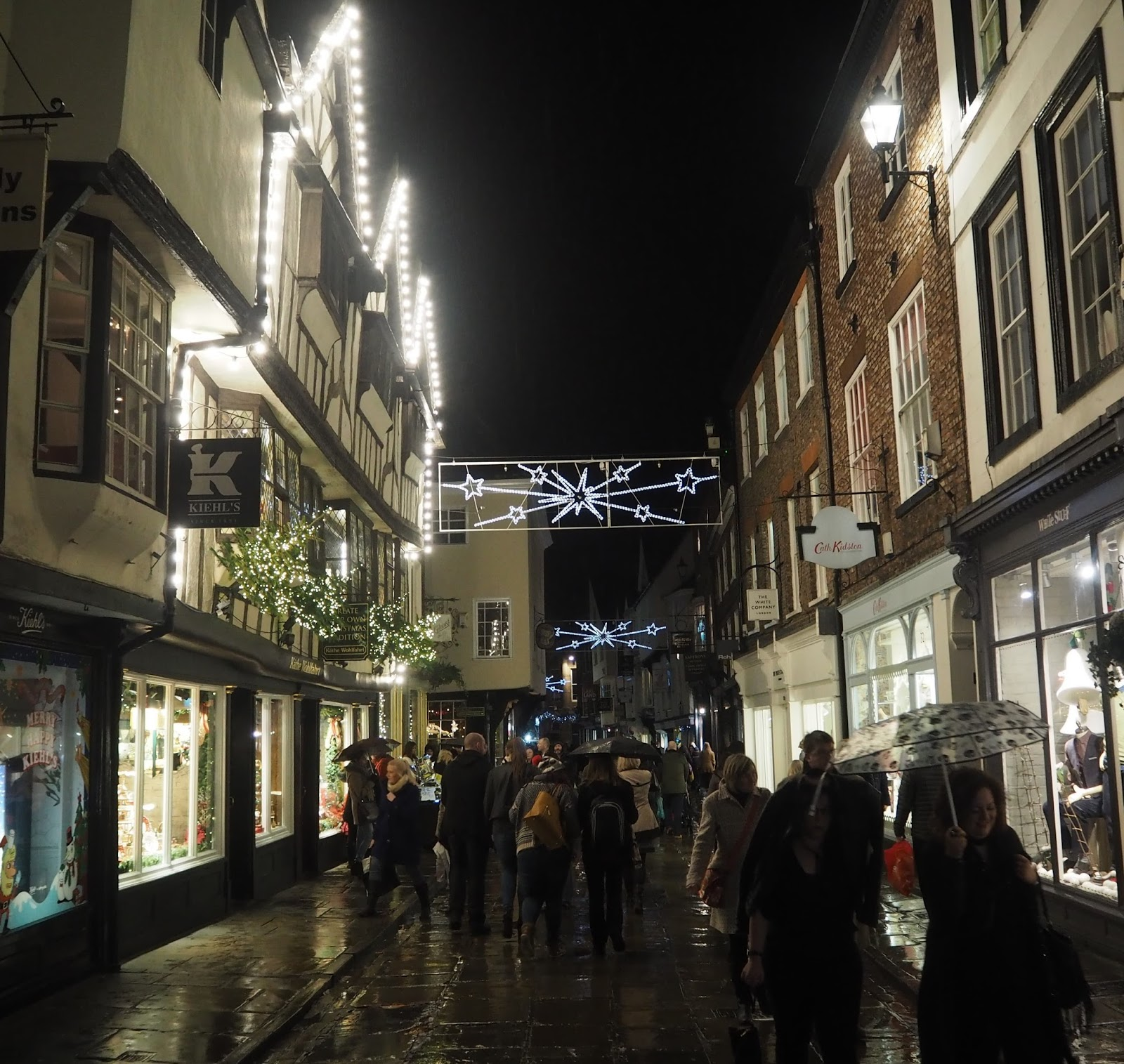 Christmas lights at York