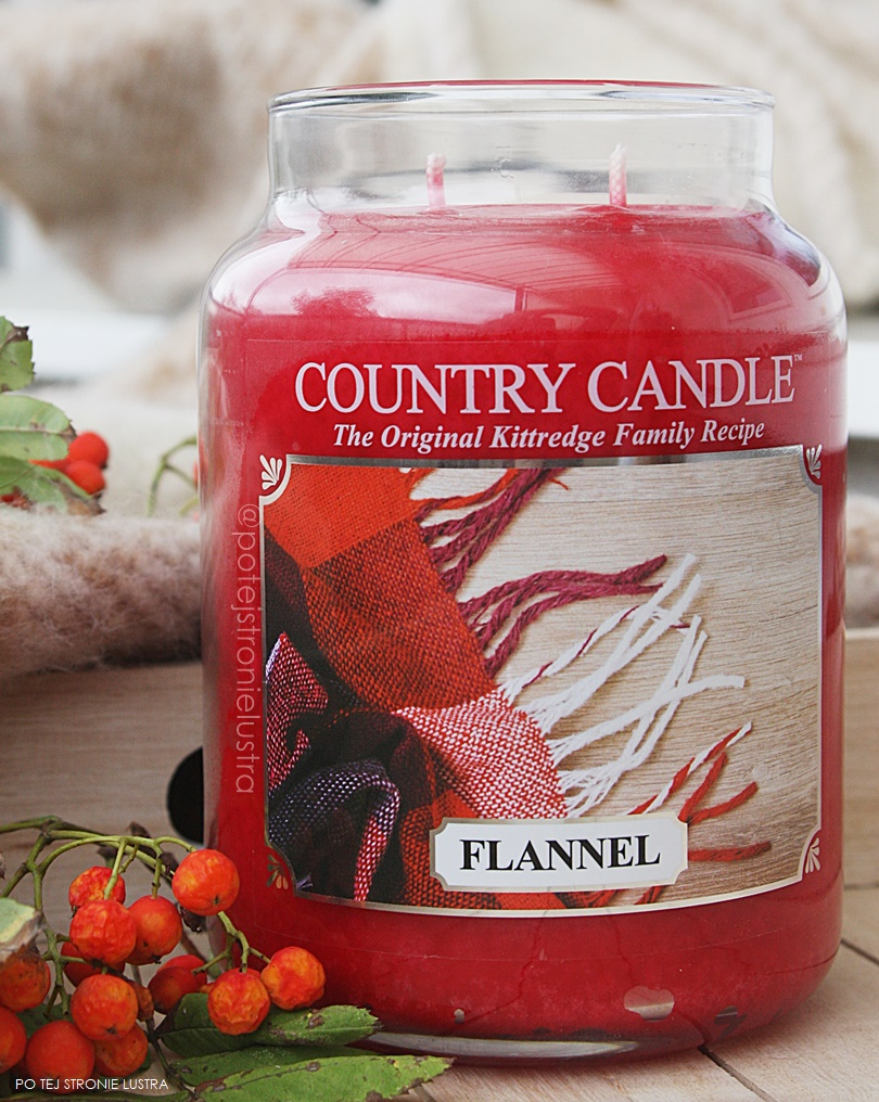 duża świeca flannel country candle