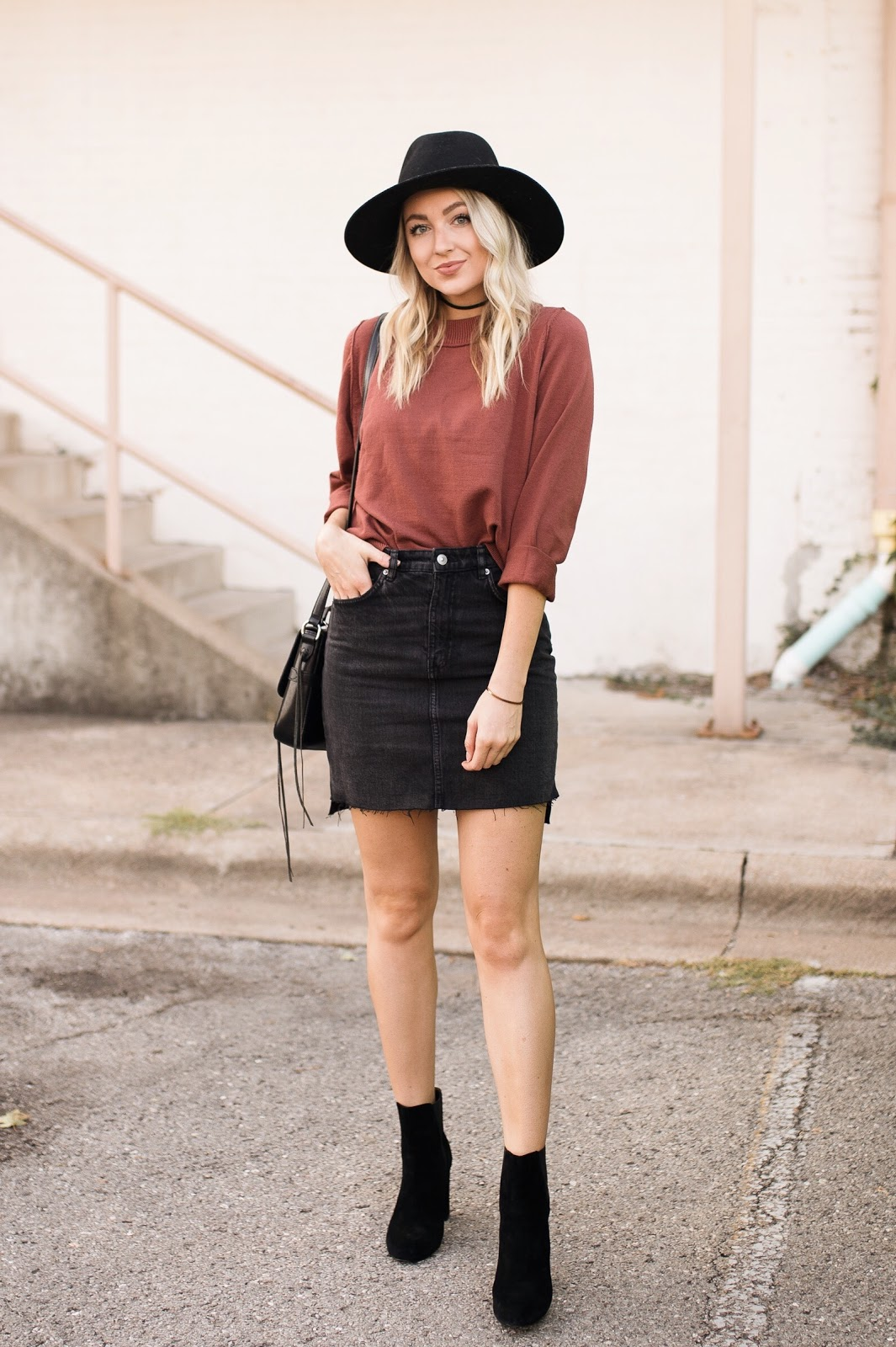 cute fall transition outfit