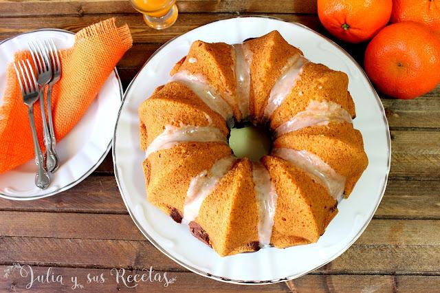Bundt cake de mandarina y chocolate. Julia y sus recetas