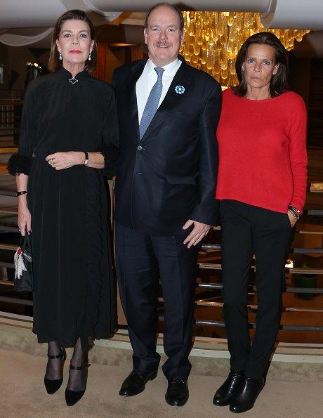 Princess Stephanie and her daughter Camille Gottlieb at The Country Girl. Princess Caroline wore Prada silk dress
