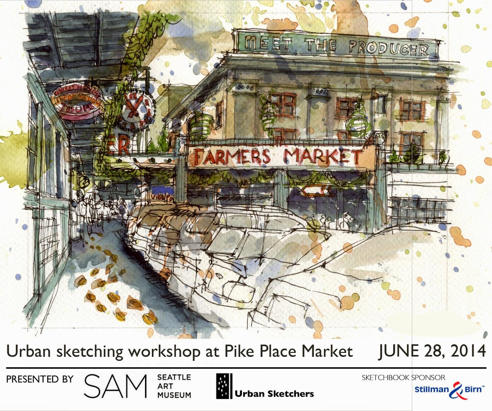 Urban Sketchers Seattle June 28 Usk Sam Workshop At Pike