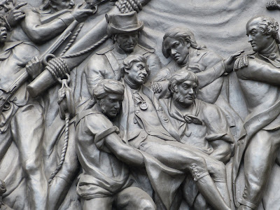 Detail from frieze on Nelson's Column in Trafalgar Square, London