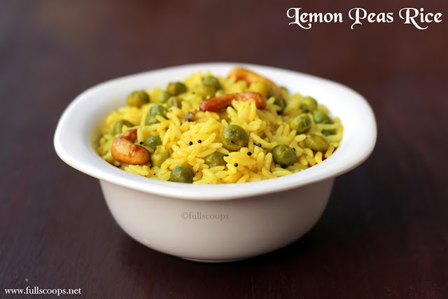 Lemon Peas Rice