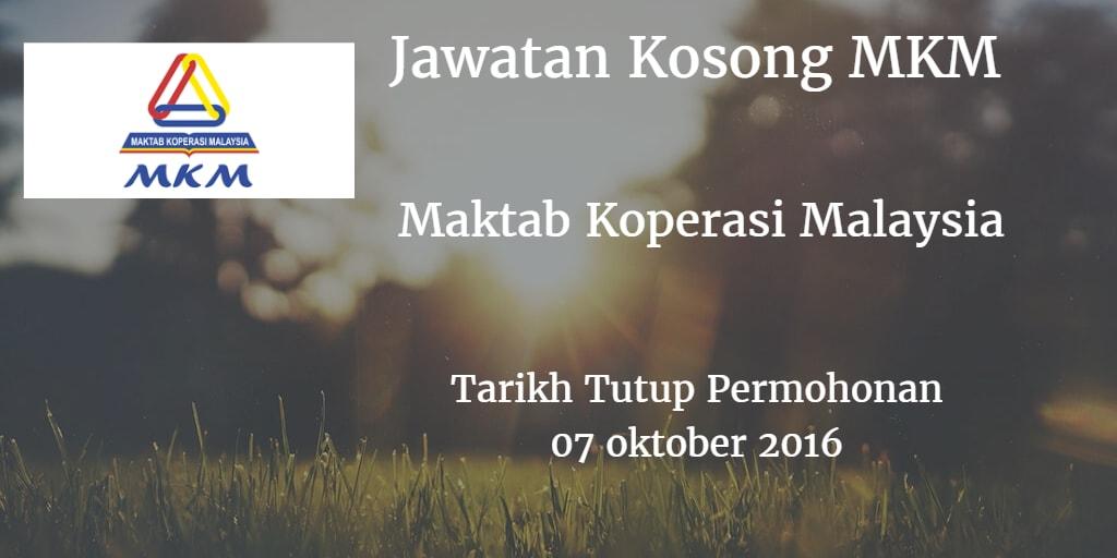 Jawatan Kosong MKM 07 oktober 2016