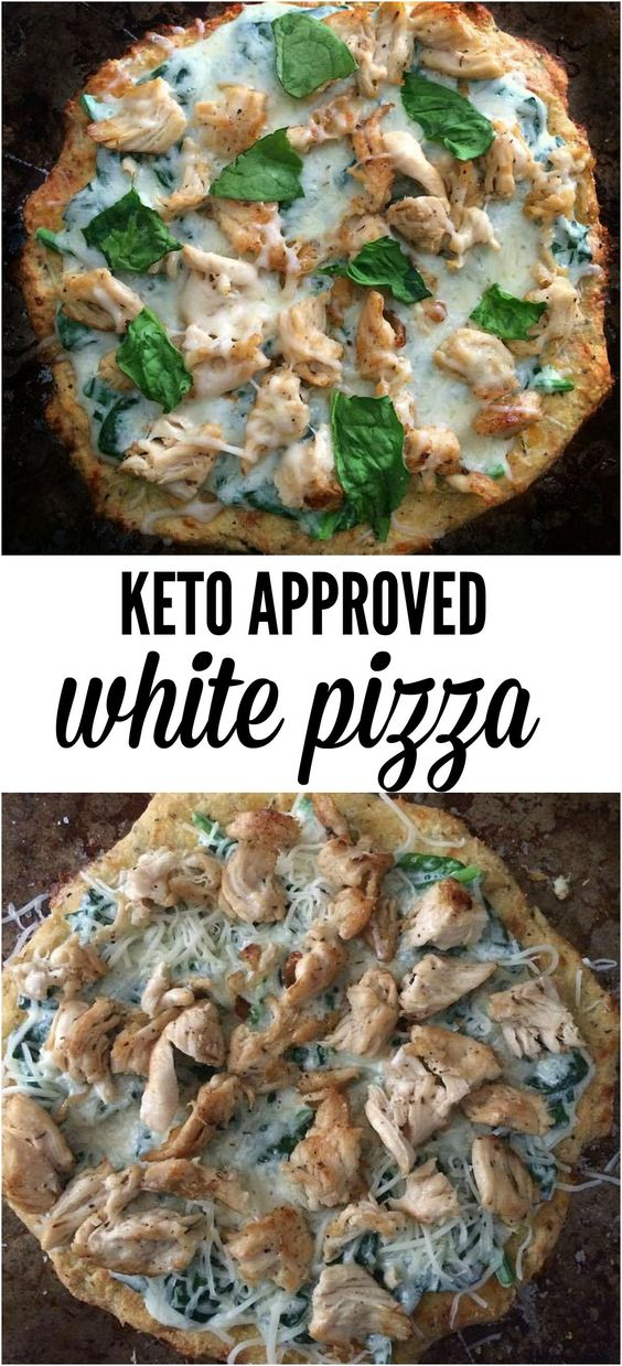 Keto Pizza- Grilled Chicken and Spinach