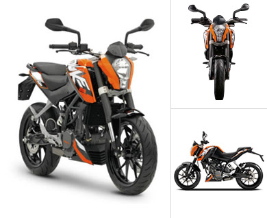 KTM 200 Duke Latest three angle view HD Wallpapers