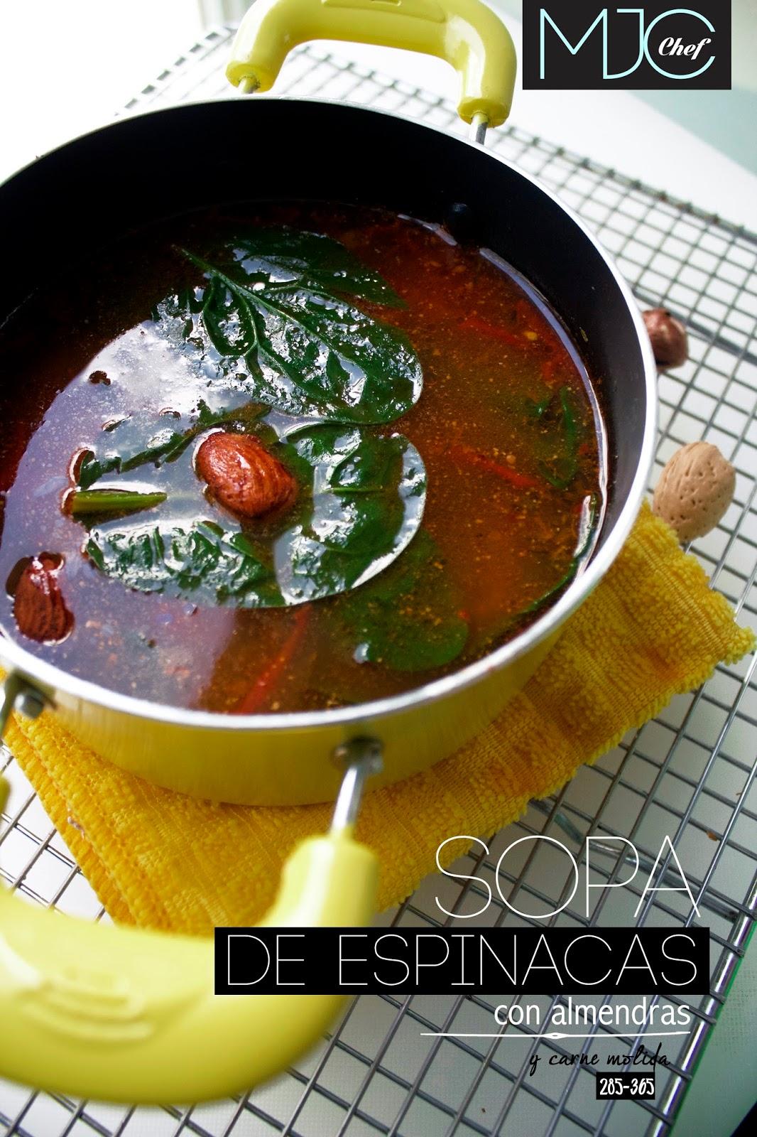 Sopa de espinacas