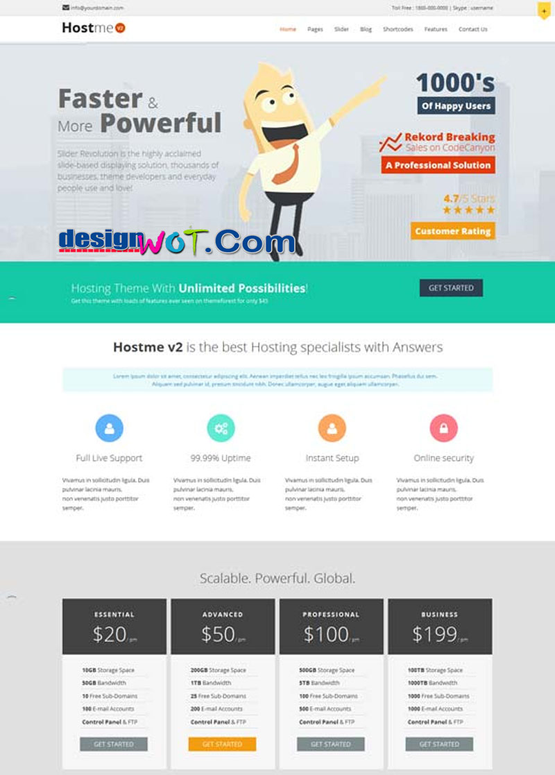 HOSTME V2 Hosting Business WordPress Theme