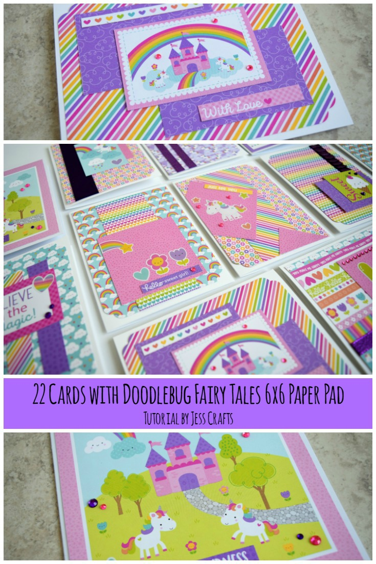 22 Cards using Doodlebug Fairy Tale by Jess Crafts #doodlebug
